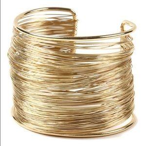 AMRITA SINGH Gold Tone Wire Cuff Bracelet